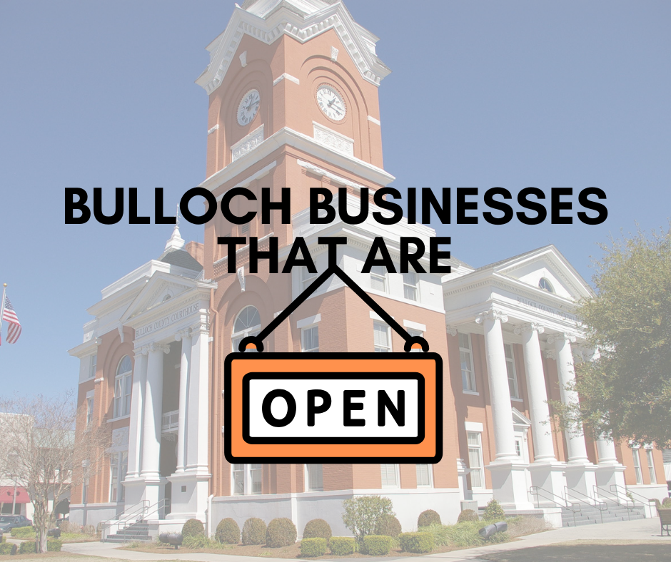 List Of Statesboro Bulloch County Businesses That Are Open